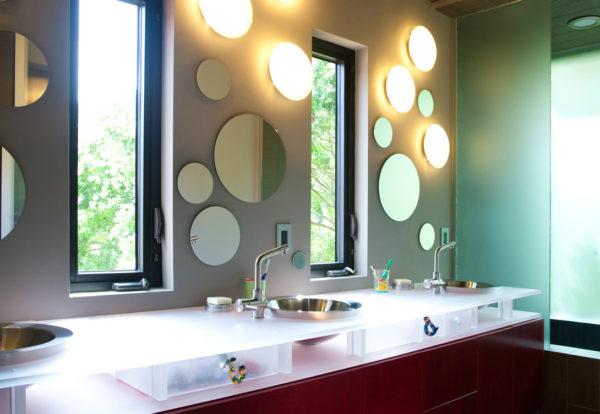 освещение в большой ванной