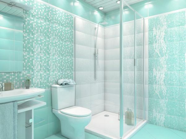 оформление голубой ванны