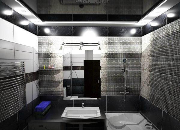 свет в черной ванне