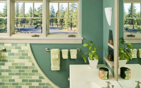 идеи для зеленой ванной