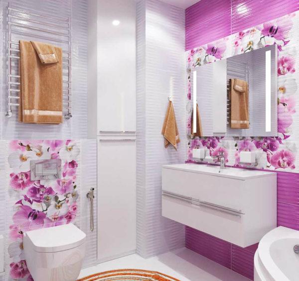 идея фиолетовой ванной