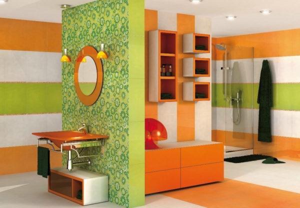 зеленая с оранжевым вання