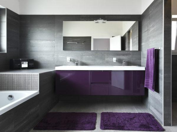 серая ванная-модерн