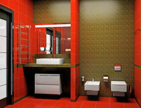 Классическая красная ванная