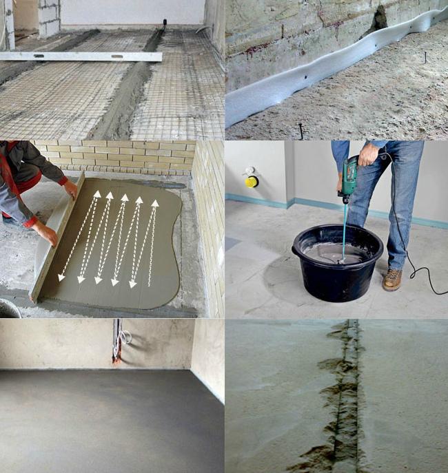 цементная стяжка инструкция