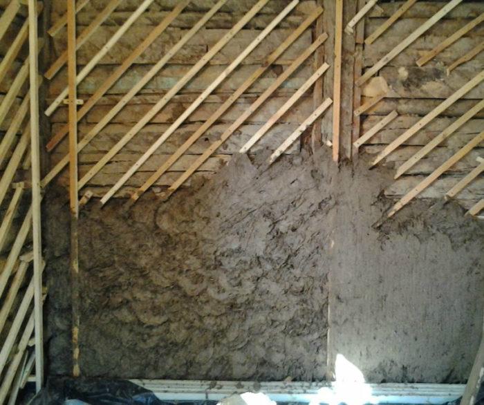 Подготовительные работы для деревянной стены