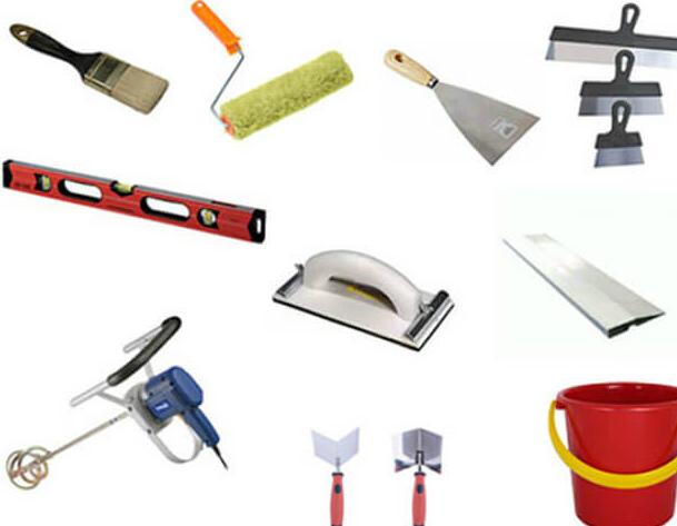 инструменты для штукатурки потолка