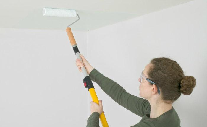 Побелка потолка (покраска) водоэмульсионной краской