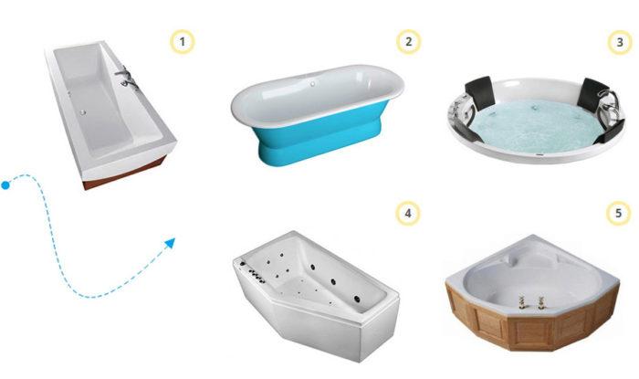Какой формы выбрать ванную