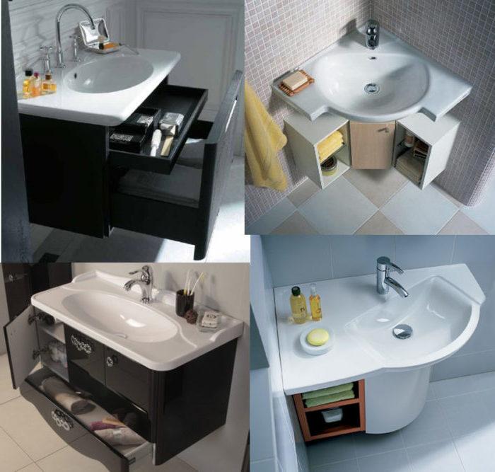 раковина в ванную размеры