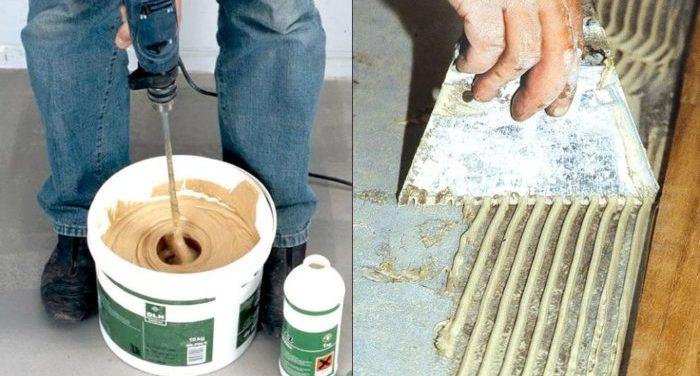 эпоксидный клей для плитки применение