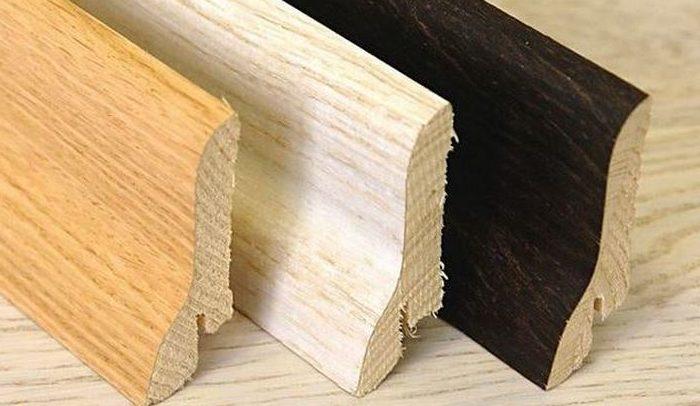 Достоинства, недостатки деревянных плинтусов