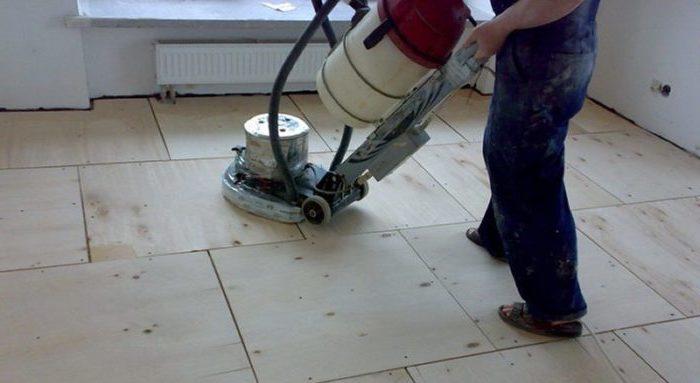 как выровнять деревянный пол циклевкой