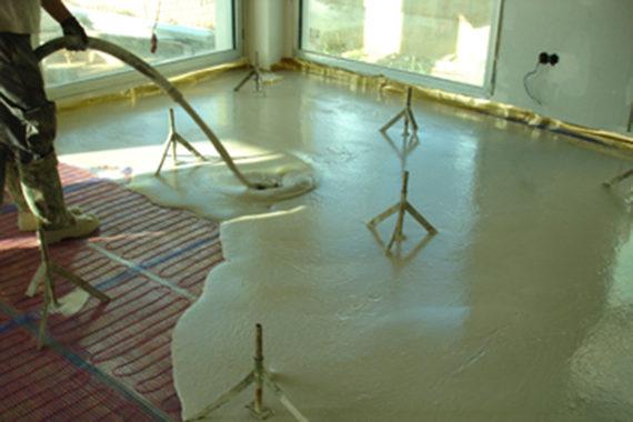 Можно ли использовать тёплый пол под наливной
