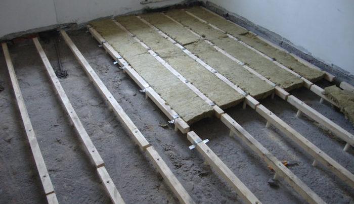 утепление пола в деревянном доме на бетон