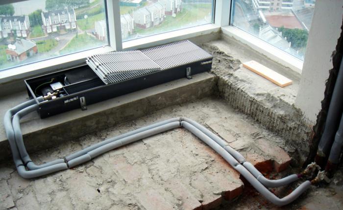 Выбор встраиваемого в пол радиатора отопления