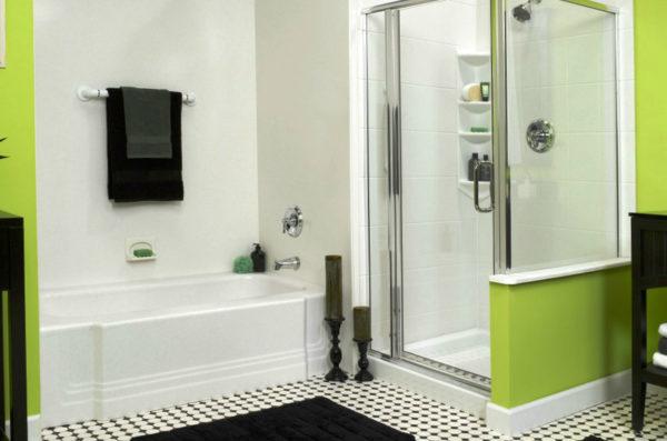 Дизайн в большой ванной комнате