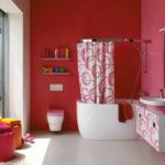 Дизайн розовой ванной