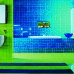 Синяя ванная: дизайн и фото