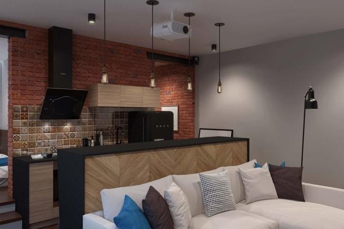 Квартира-студия в стиле Лофт: фото