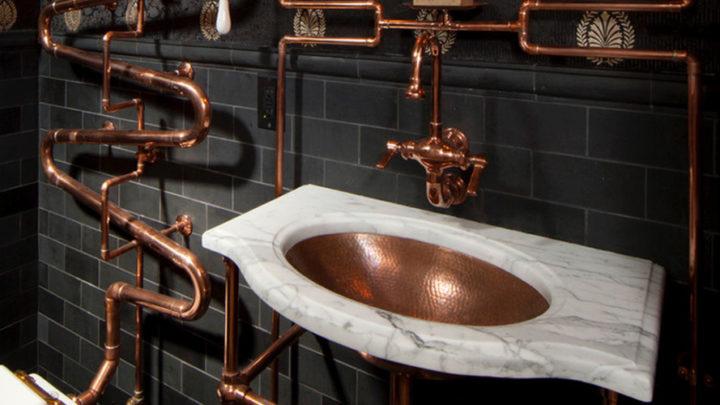 Как спрятать трубы в ванной: варианты