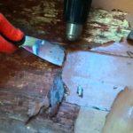 Как снять краску с деревянного пола
